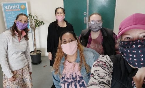 Staff wearing facemasks at Trinity Children's Centre